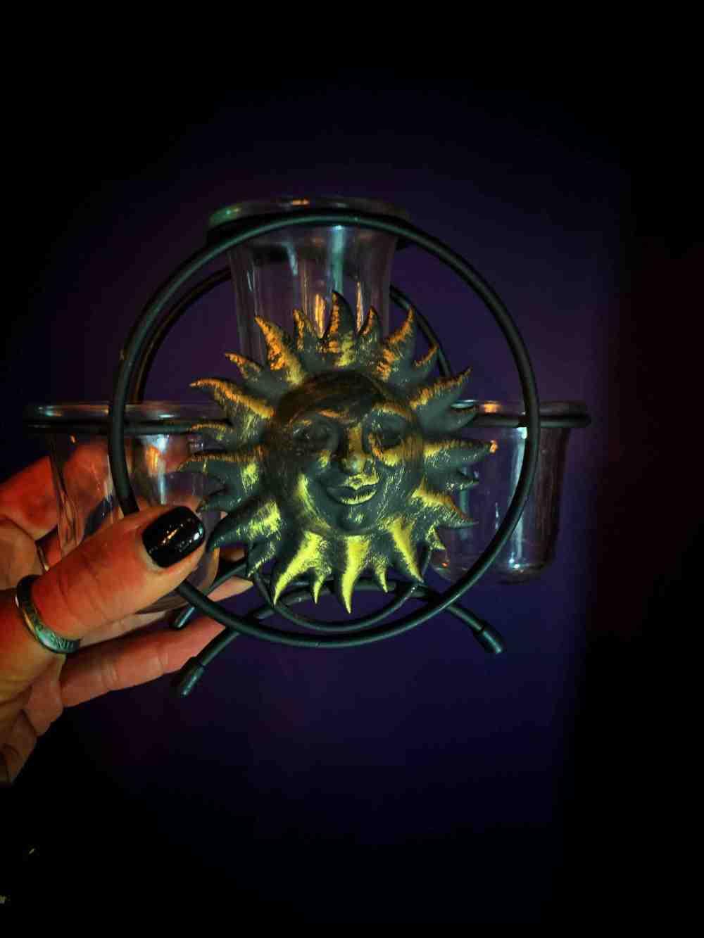 Sun & Moon Vintage Candle Holder Set