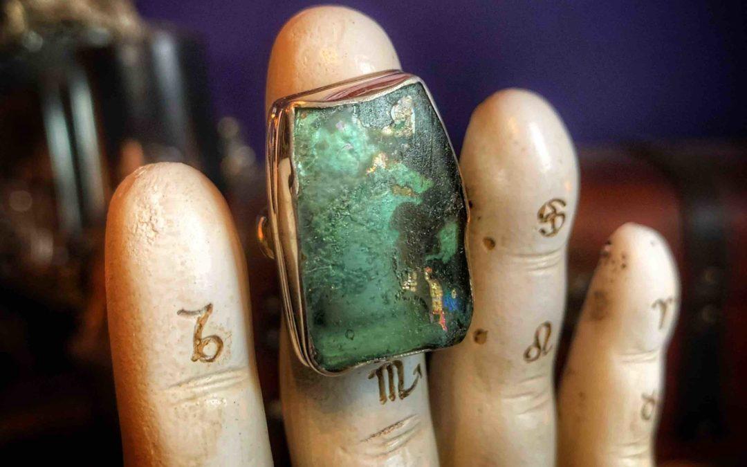 Roman Glass Talismanic Ring
