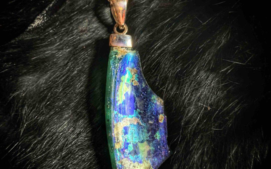 Roman Glass Talismanic Amulet