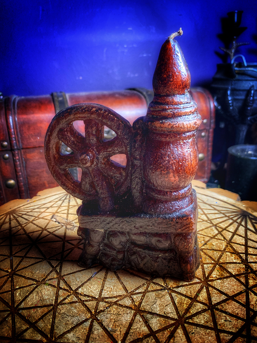 Spinning Wheel Candle