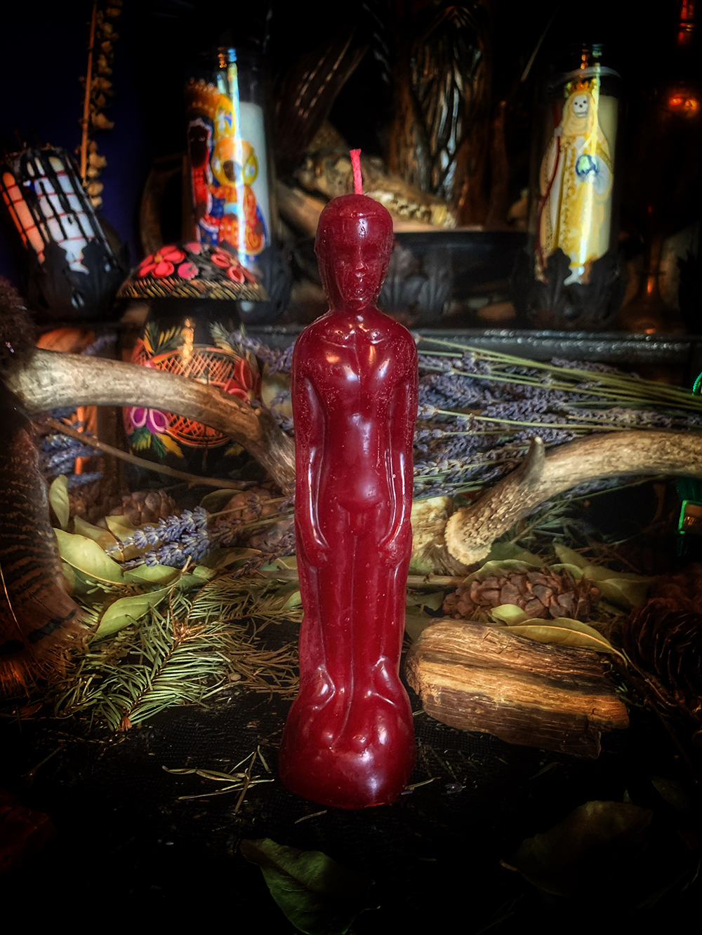 Figure Candle Red Male