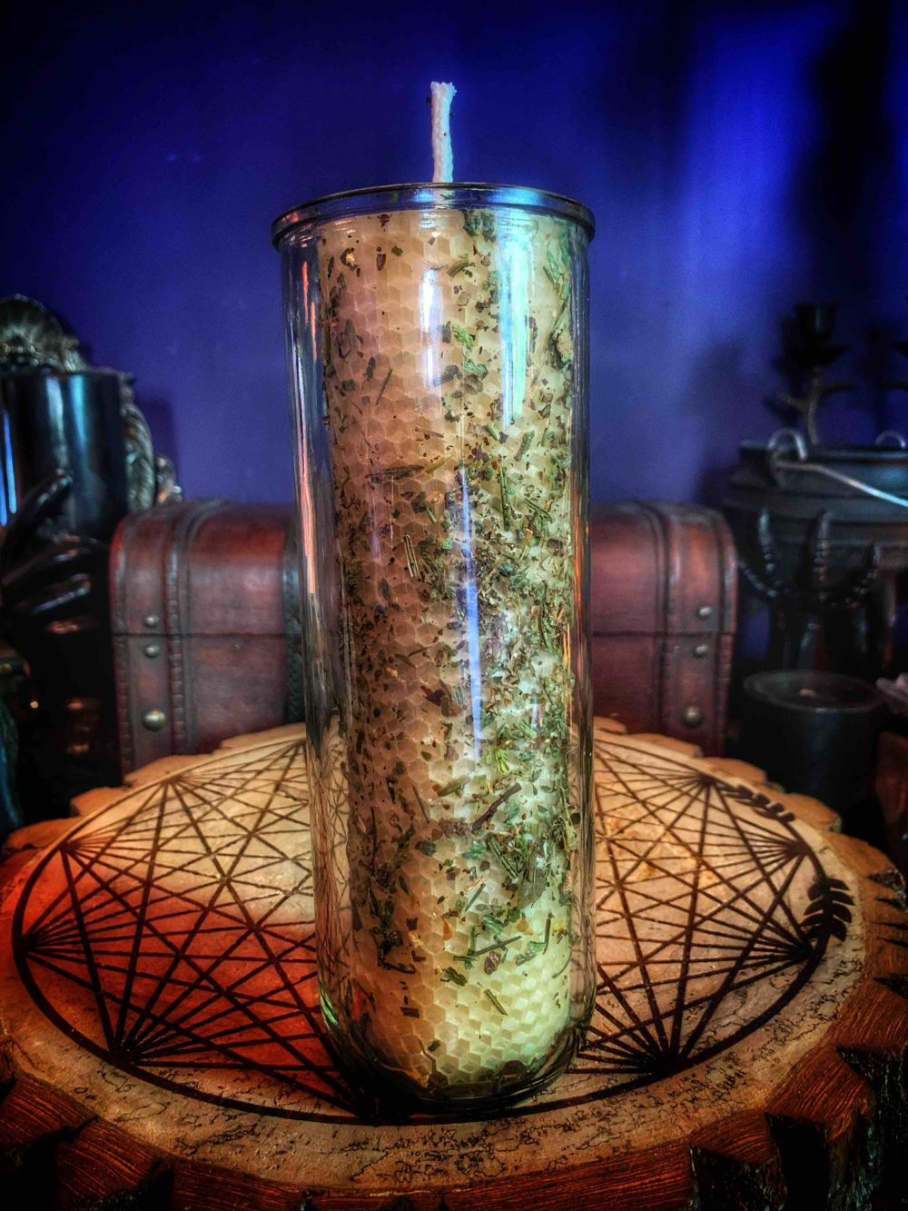 Custom Ritual Beeswax Vigil Candle