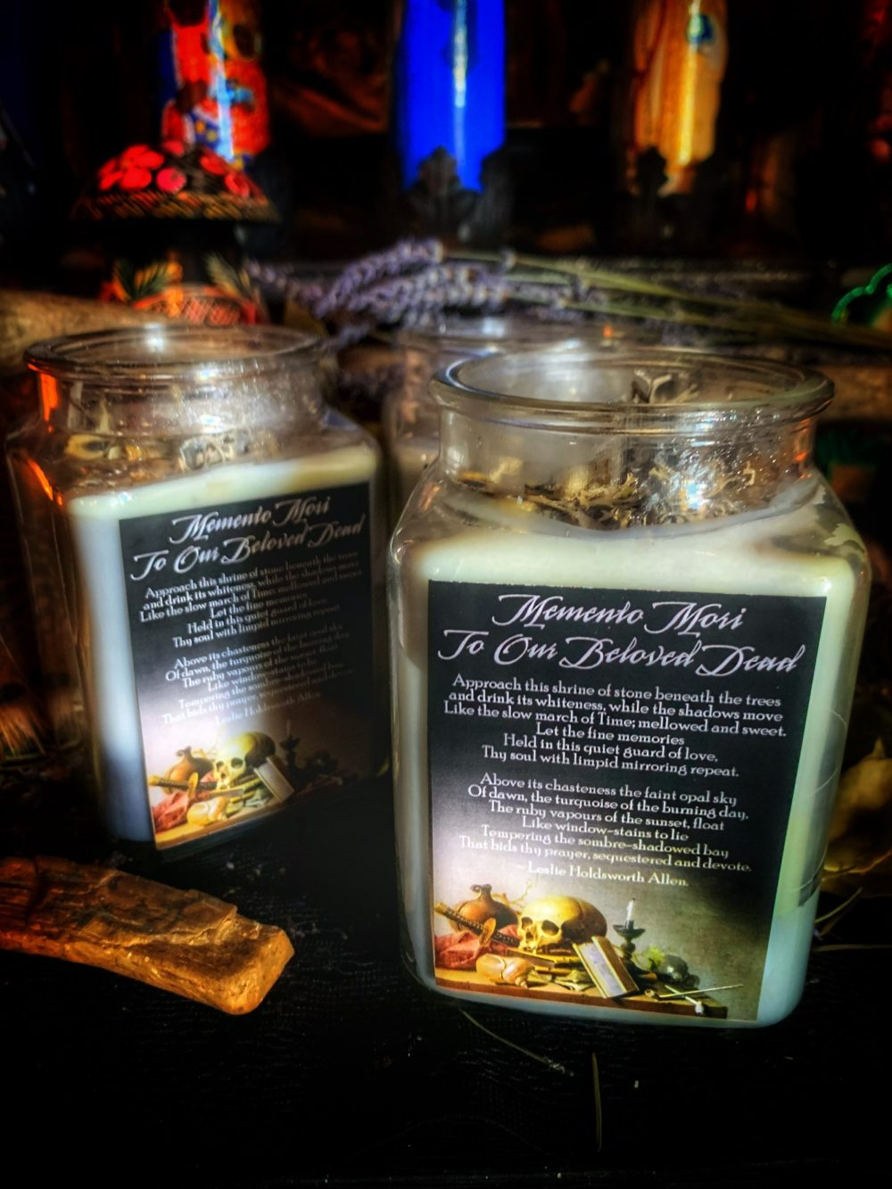 To Our Beloved Dead Memento Mori Candle