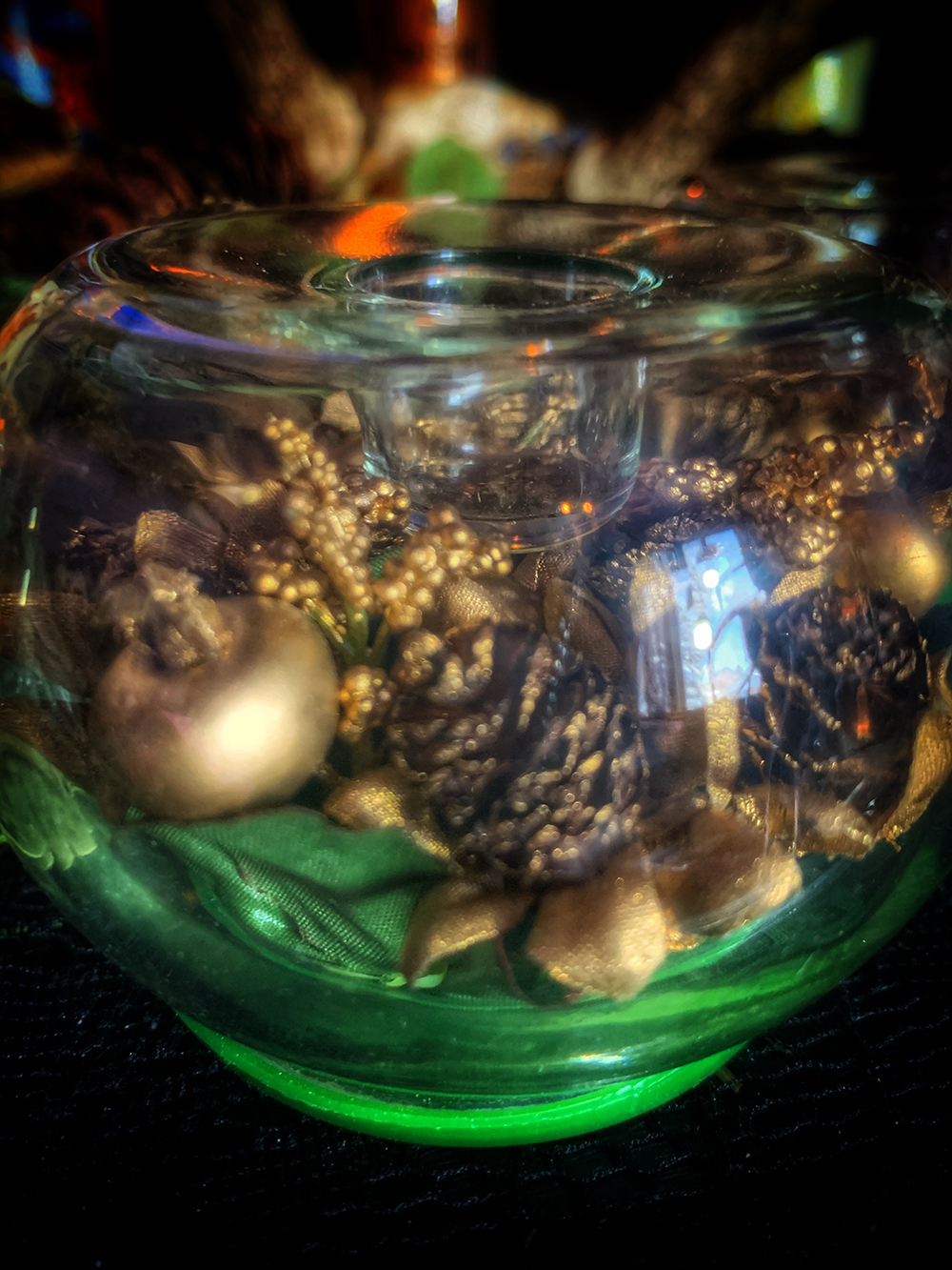 Pine Cone of Prosperity Candle Holder