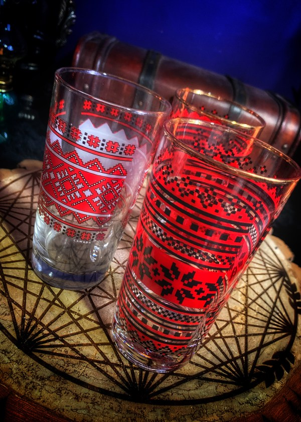 Slavic Embroidery Glass Vintage
