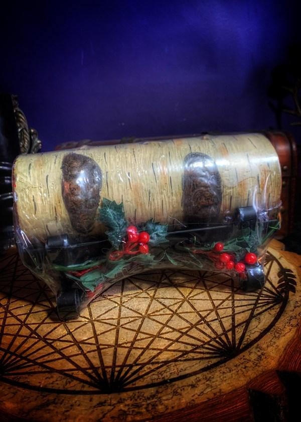 Yule Log Vintage Candle