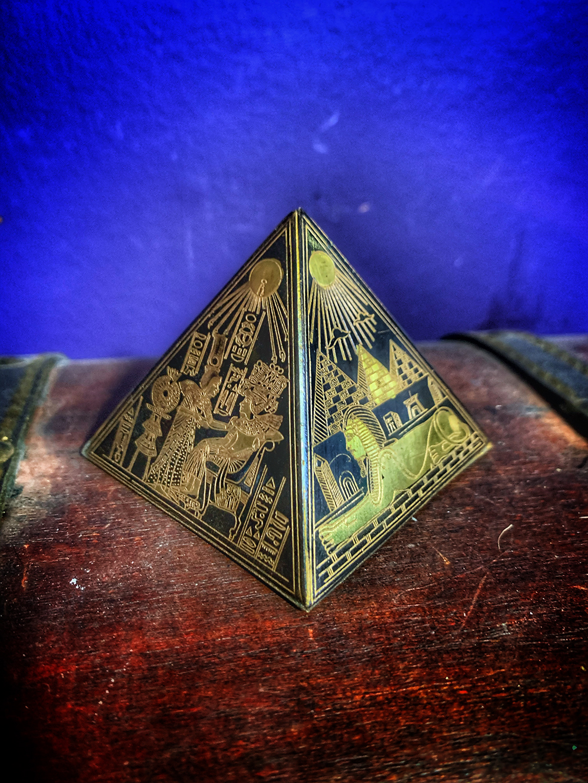 Pyramid Sand Amulet Antique