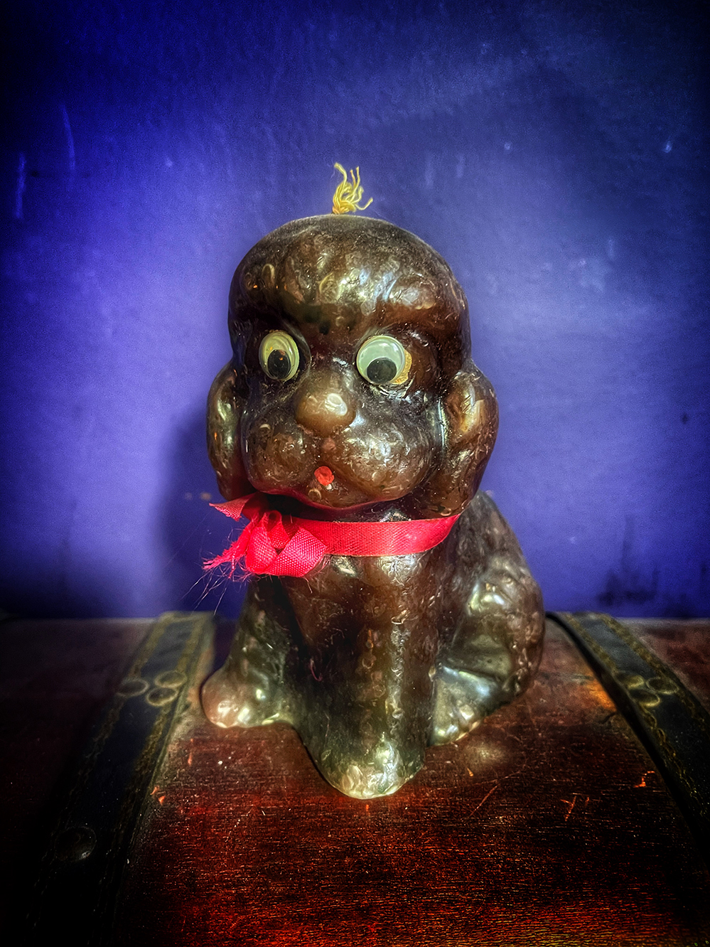 Derpy Dog Candle Vintage