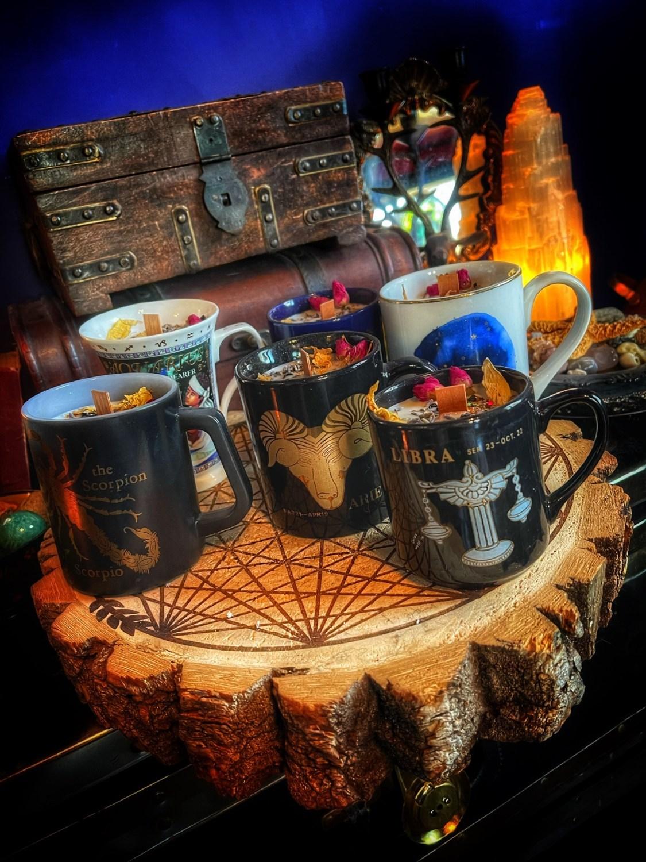 Vintage Zodiac Mug Candle