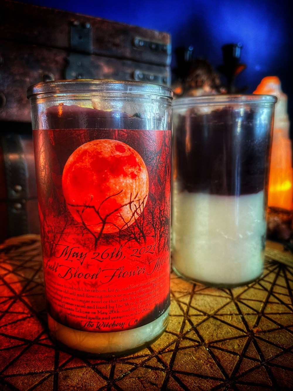 Full Blood Flower Moon Ritual Candle