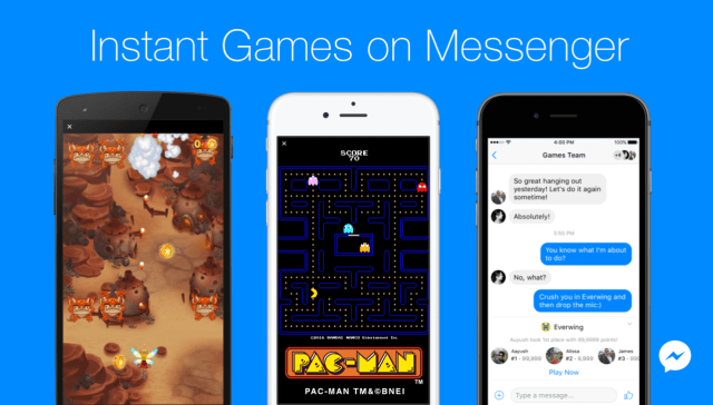 Instant Games on Facebook Messenger and News feed