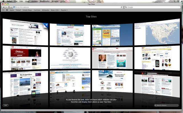 Apple Safari browser Mac
