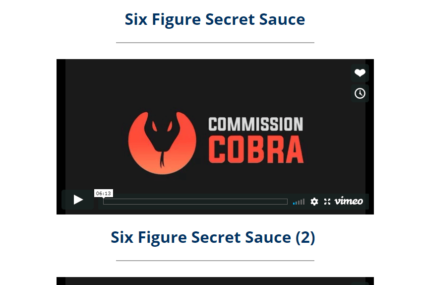 Commission Cobra Review