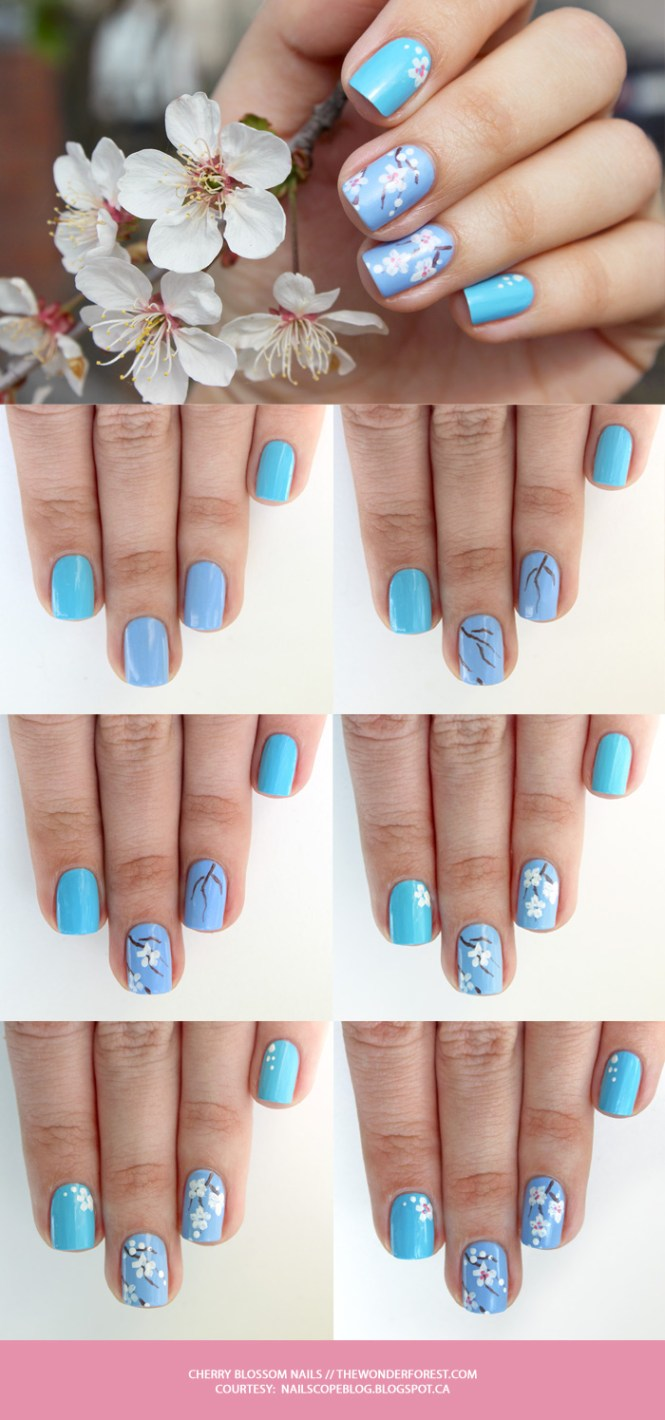 Anese 3d Nail Art Set Cherry Blossom By Greenlollipopdesigns