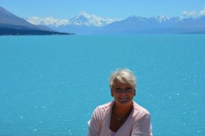 Lynda- New Zealand South Island Mt Cook in the distance