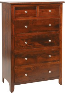 J&M Woodworking Classic Shaker Chest of Drawers