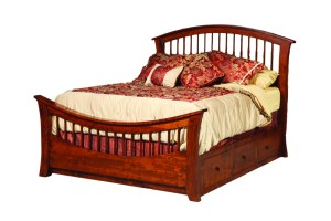 Penwood Amish Furniture Richmond Bed with Storage Rail