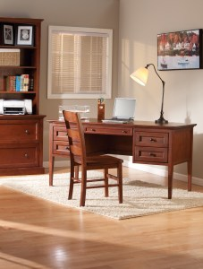 Whittier Wood Furniture Glazed Antique Cherry Home Office Suite