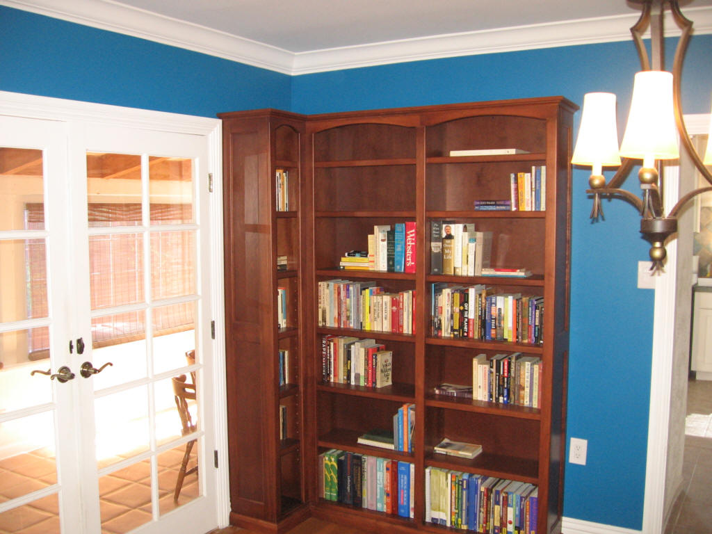 Solid Wood Corner Bookcase