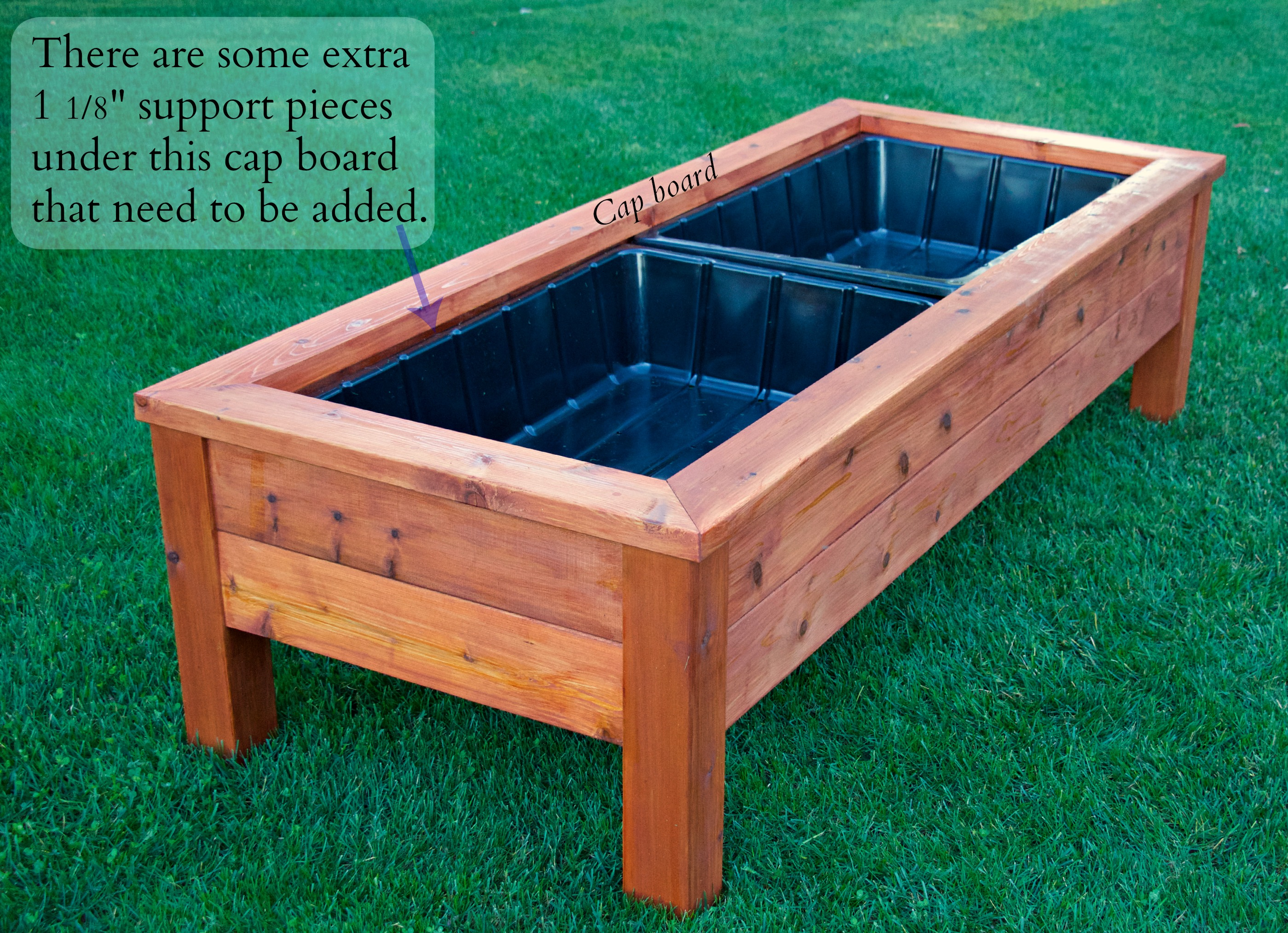 darker top cedar box planter new product square
