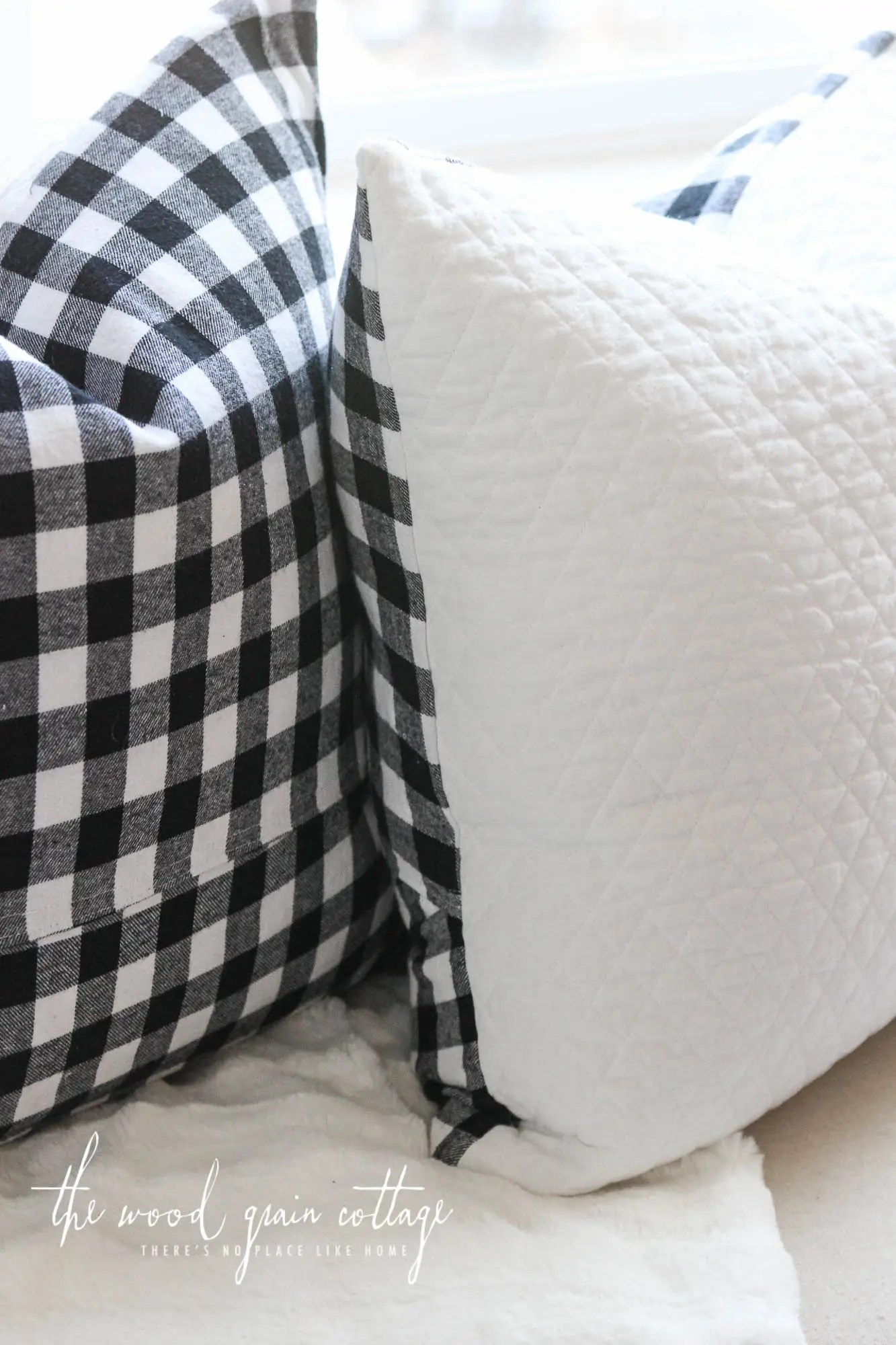 Black Amp White Buffalo Check Pillow The Wood Grain Cottage Shop