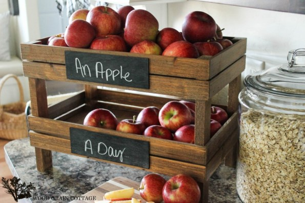 DIY Stackable Fruit Crates by The Wood Grain Cottage