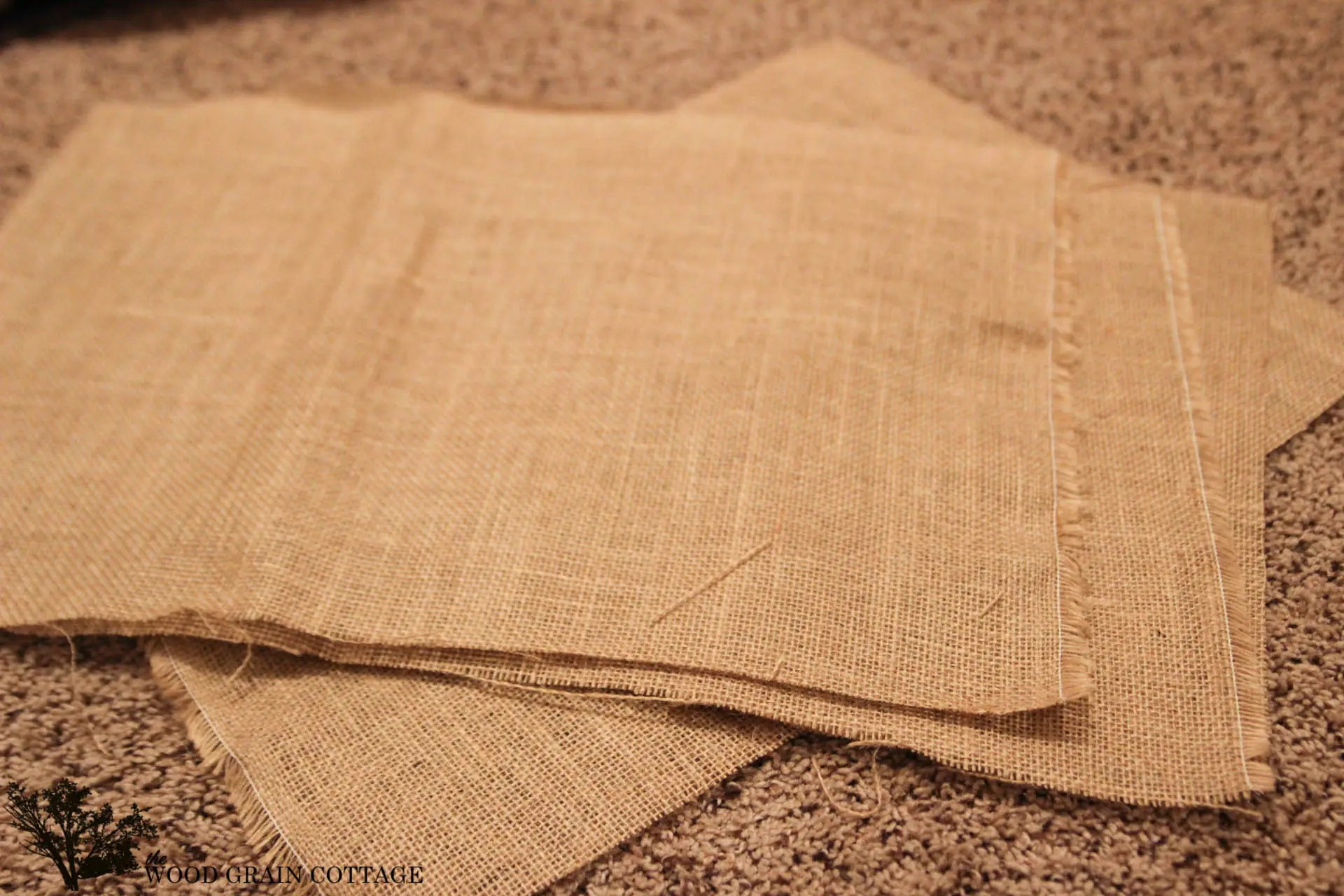 DIY Burlap Placemats The Wood Grain Cottage