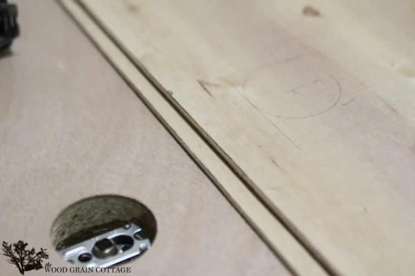 DIY Plank Door by The Wood Grain Cottage