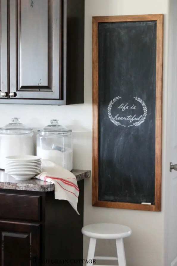 Huge DIY Chalkboard by The Wood Grain Cottage