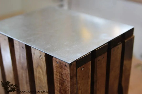 Galvanized Metal Wood Crate