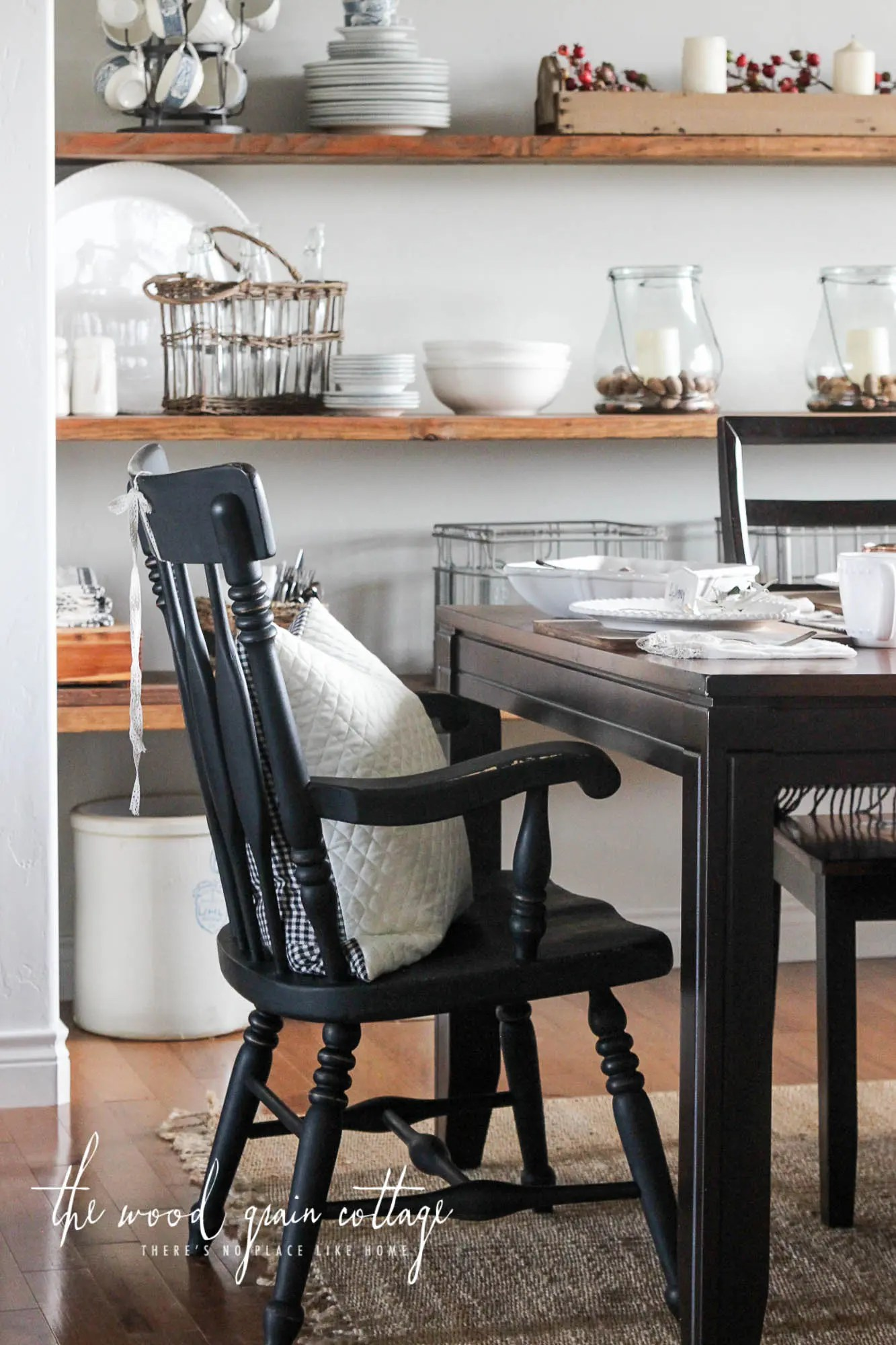 Black Dining Room Chairs Makeover The Wood Grain Cottage