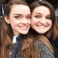 Julia Stewart and Georgia Peake take a selfie while at the Virginia Honors Choir cconference.