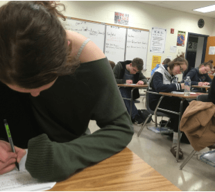 Students quiz in an AP Calculus class-a class with no associated SOL.
