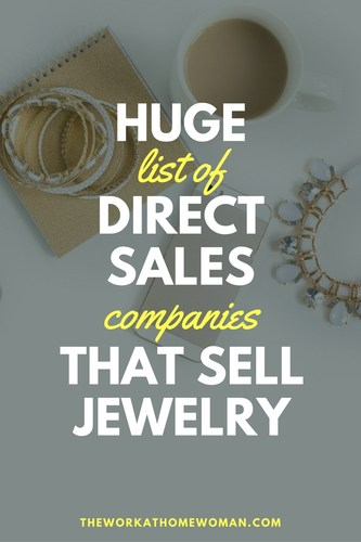 Would you like to be your boss and work from home? Do you love jewelry, style, and fashion? If so, here is a HUGE list of direct sales companies that sell jewelry. #workfromhome #business #fashion #homepartyplan via @TheWorkatHomeWoman