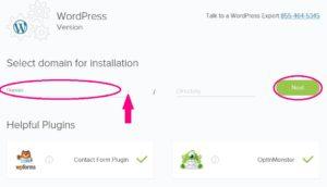 Domain to Install WordPress