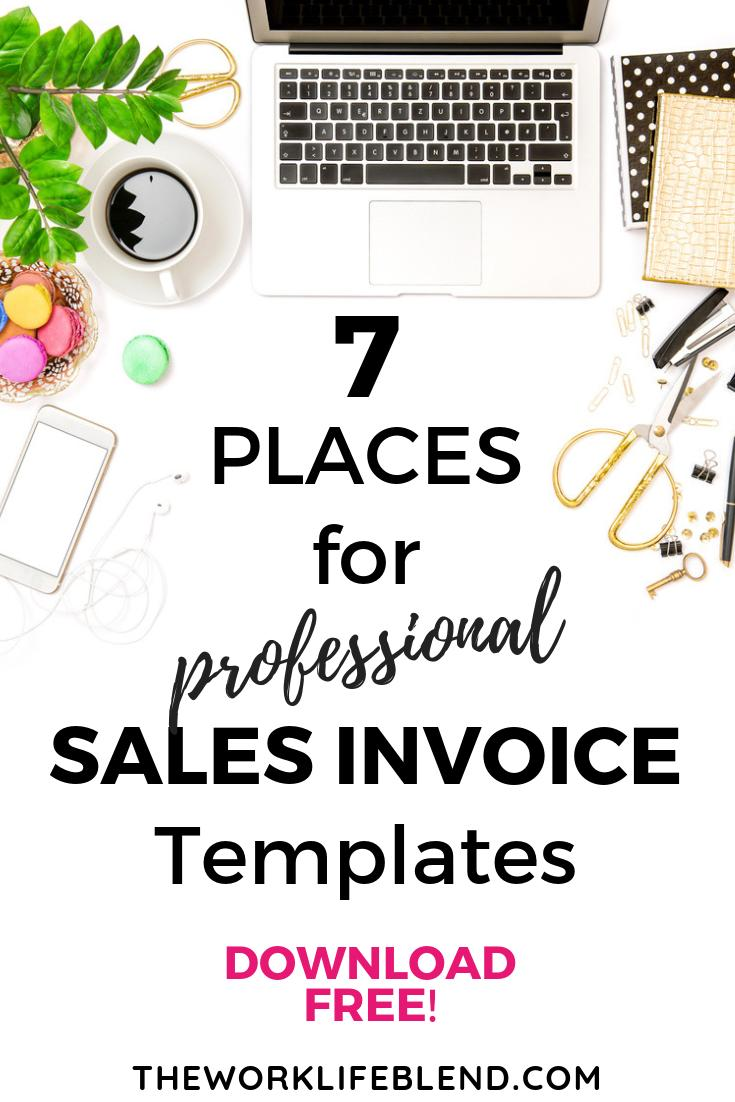 7 Places To Download Free Professional Sales Invoice