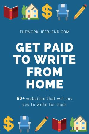 50 Websites That Pay You To Write and Earn Money From Home