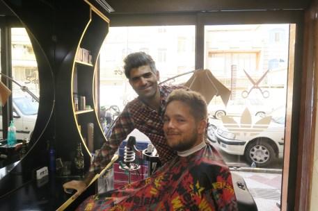 Daniels bisher 4. Haarschnitt auf dieser Reise