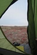 Blick aus dem Zelt