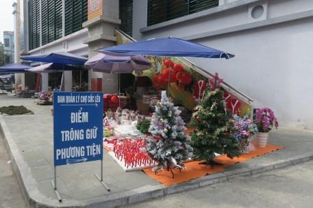 Weihnachtsdeko in Lao Cai