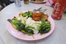 Vom chinesischen vegetarischen Buffet