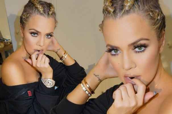 Khloe Kardashian Hair Braid