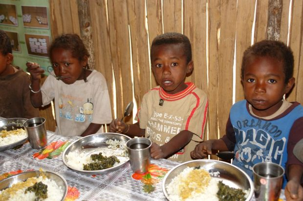 Children at Ankilimafaitse Primary School in southern Madagascar which is supported by WFP's school meals, Photo: WFP/Volana Rarivoson