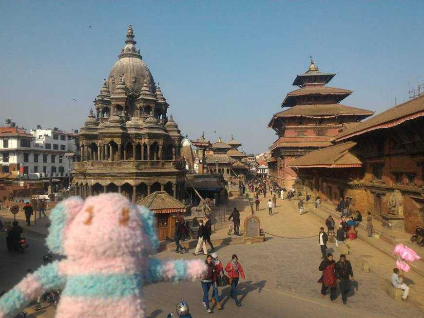 TravelToBlank Sock Monkey in Kathmandu Nepal