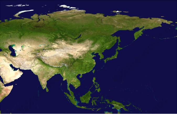 Digital Satellite Image Asia 1331   The World of Maps com Digital satellite image Asia
