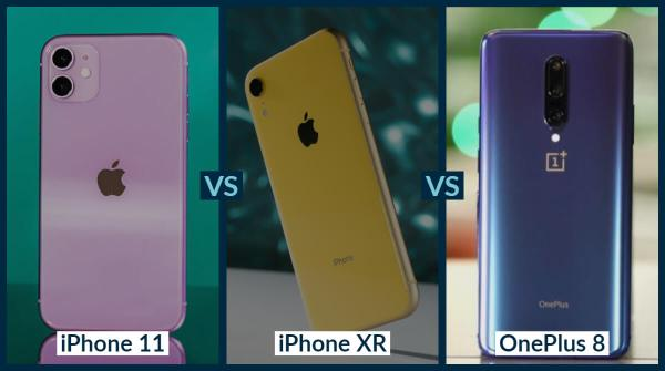 iPhone 11 vs iPhone XR vs OnePlus 8: Complete Technical ...