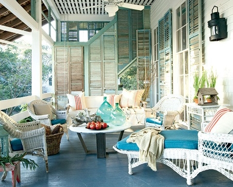 25 Amazing Beach Style Outdoor Design Ideas on Nautical Patio Ideas  id=36879