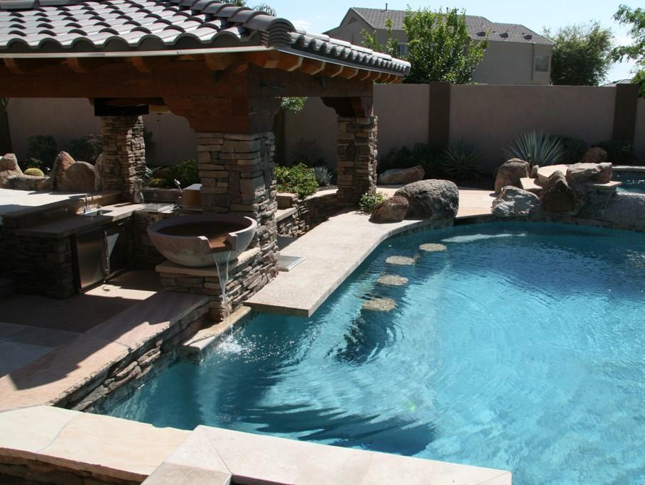 15 Awesome Pool Bar Design Ideas on Backyard Pool Bar Designs  id=31772