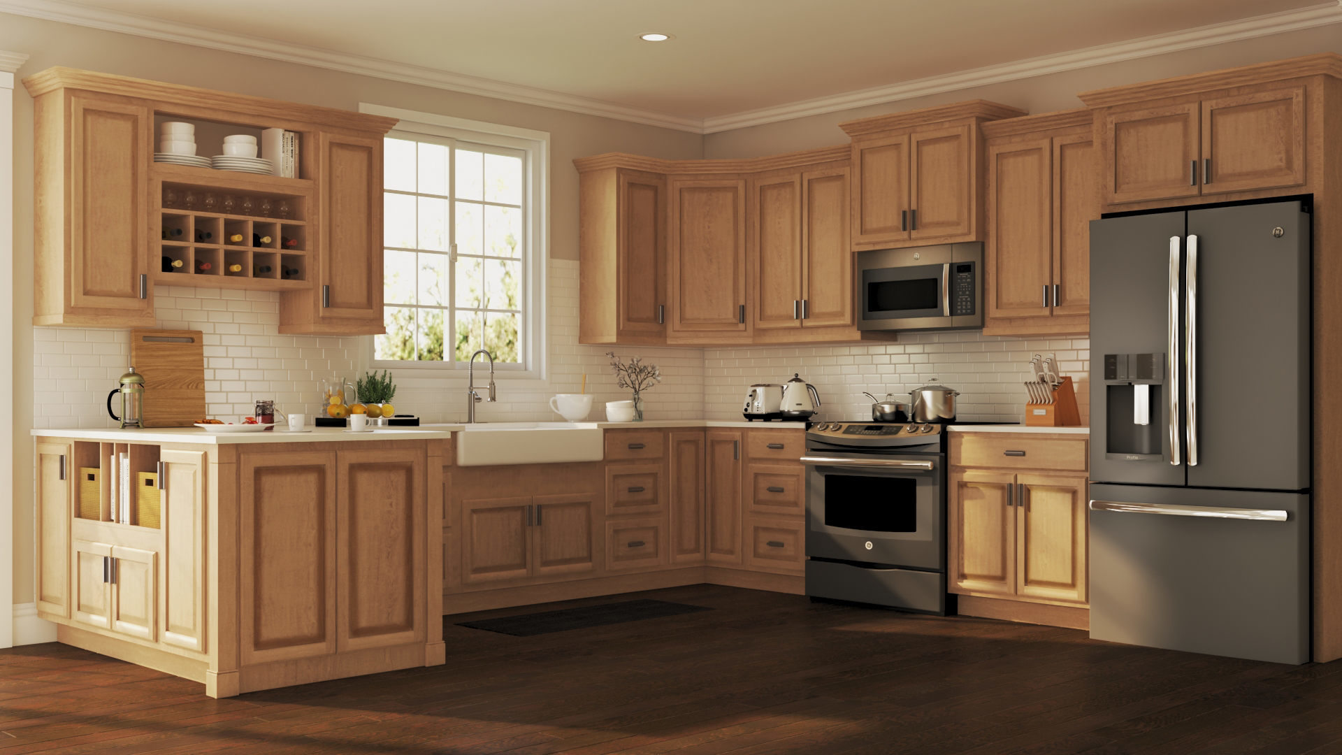The Process Of Repainting Old Kitchen Cabinets In Historic