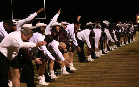 The Lariettes perform a routine to